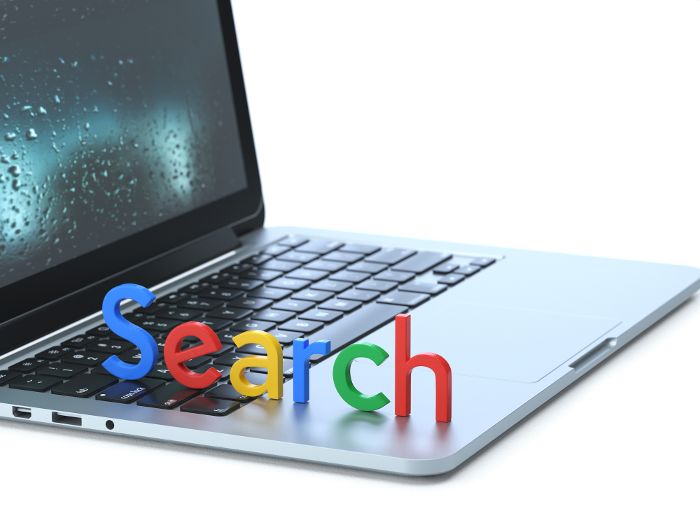 Seo,Symbol,On,The,Keyboard,Of,A,Latop,,3d,Rendering,conceptual